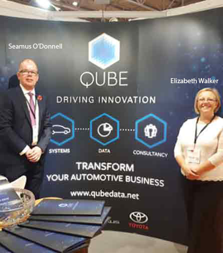Seamus O'Donnell, Commercial Director of Marketing and Elizabeth Walker, Commercial Director of Finance, QUBE
